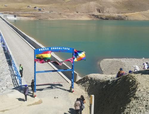 Gobierno entrega presa Chacaltaya que «robustece» las reservas de agua en La Paz