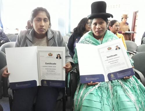 Certifican a 16 regantes de La Paz como promotores comunitarios en riego
