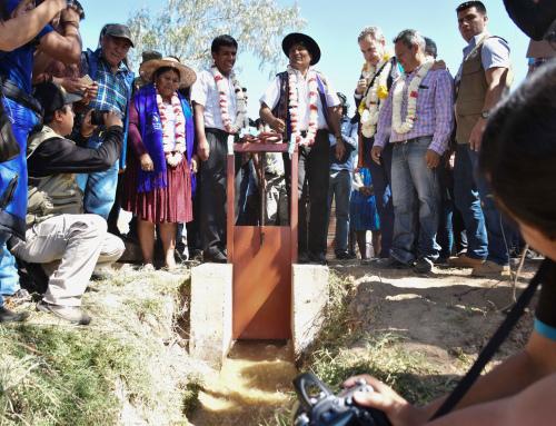 Gobierno entrega obra hídrica para optimizar riego en Capinota