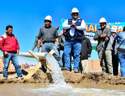 Obra que garantiza agua potable por 30 años en Oruro tiene un avance de 42 por ciento