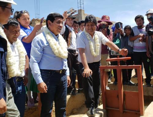 Entregan sistema de riego en Punata que beneficia a ocho comunidades