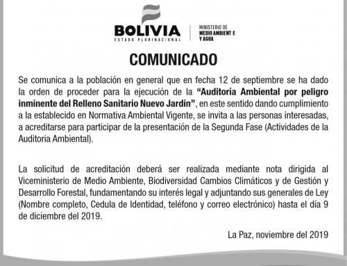 Invitan a conocer actividades de la auditoría ambiental al relleno de Alpacoma