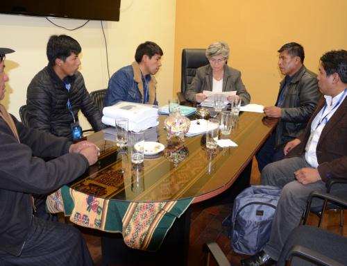 Alcalde de Achacachi solicita apoyo al MMAyA en proyectos de alcantarillado y agua potable