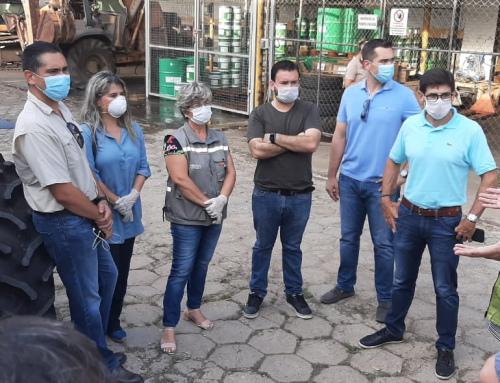 Realizan pruebas de la maquinaria que hará la desinfección de las calles de Santa Cruz