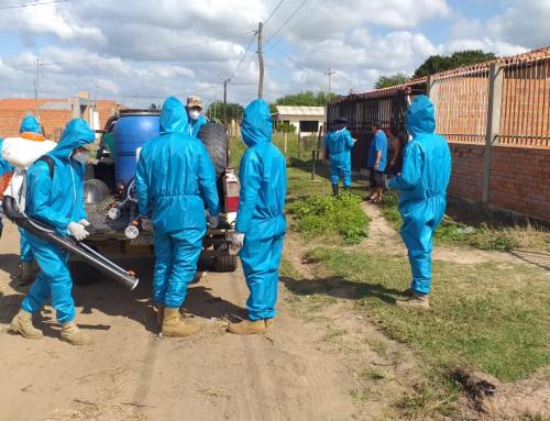 Desinfectan domicilios de casos positivos por Covid-19, MMAyA y otras instituciones trabajan en conjunto