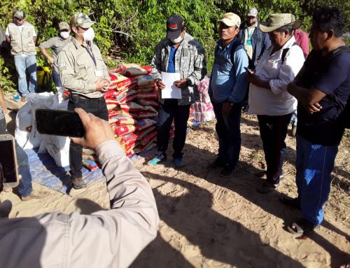 Entregan víveres a las comunidades más vulnerables en el TIPNIS