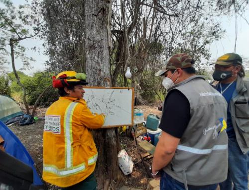MMAyA a través del SERNAP inspecciona incendios en el Área Protegida Kaa-Iya