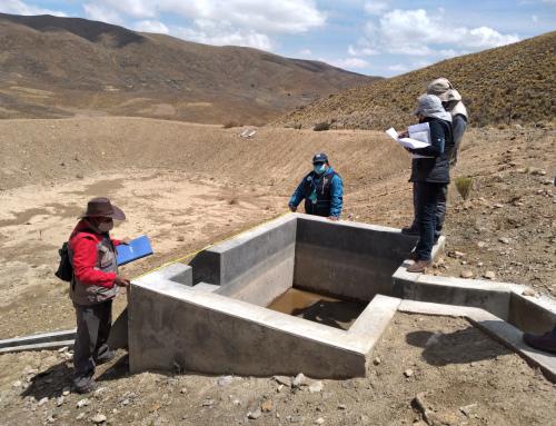 Se inspeccionó el Proyecto de Manejo Integral de las Microcuencas de los ríos Huayña Pasto y Pata Mayu
