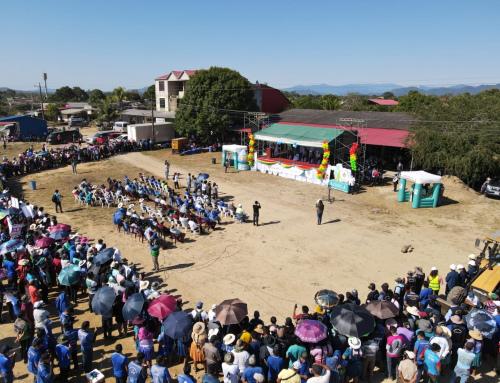 Se dio inicio a la construcción de mejora y ampliación del alcantarillado sanitario en el municipio de Entre Ríos, Cochabamba