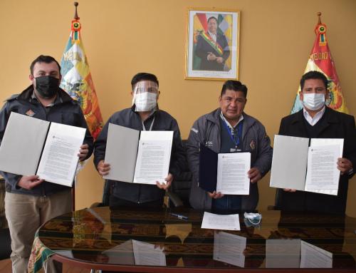"""Firma de convenio de la """"Construcción De Obras Hidráulicas de Protección Torrentera Mayu Mayu D-6 beneficiará a pobladores en el Municipio de Sacaba"""
