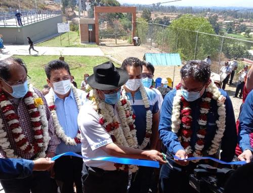 Ministerio de Medio Ambiente y Agua presente en la puesta en marcha de la Planta de tratamiento de agua potable Jove Rancho en el departamento de Cochabamba